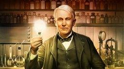 アメリカの発明家トーマスエジソン